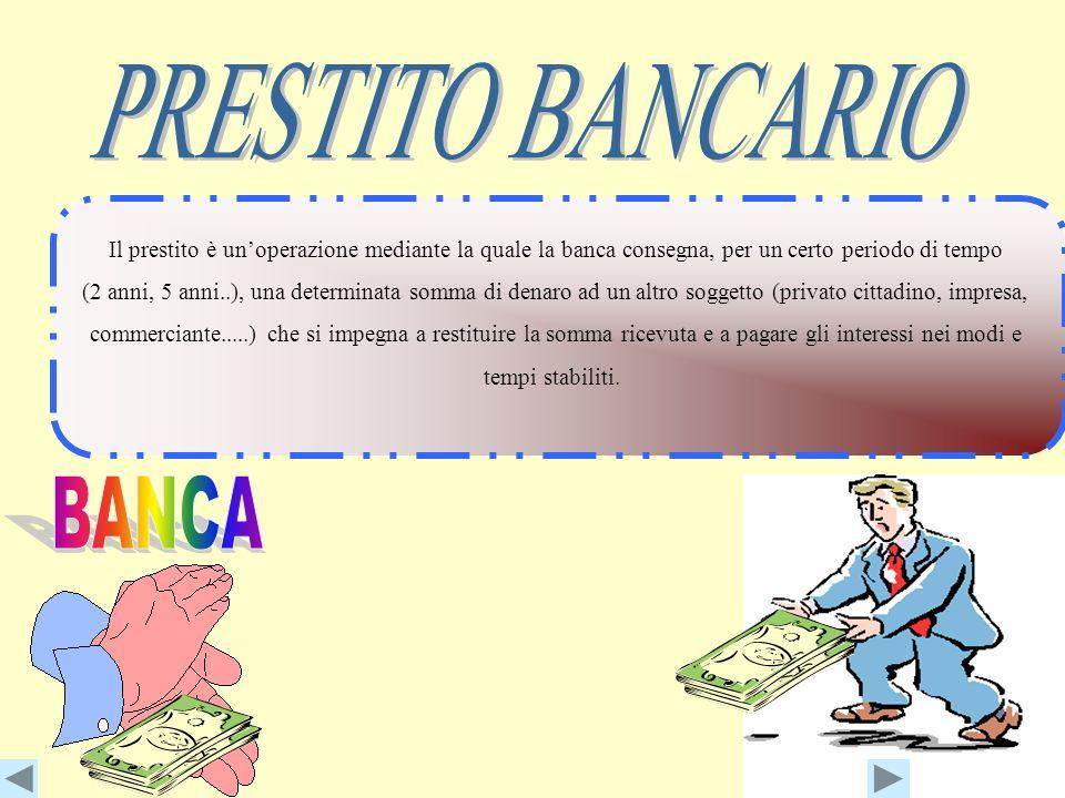 PRESTITO BANCARIO BANCA