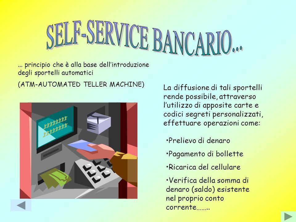SELF-SERVICE BANCARIO...