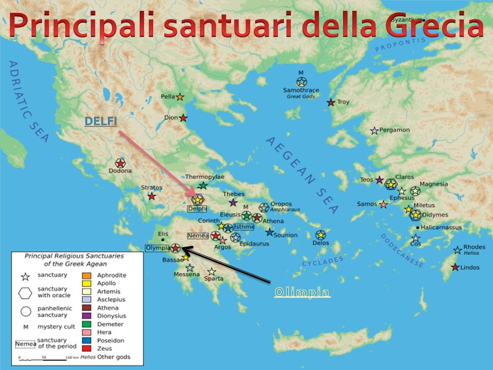 Principali santuari della Grecia