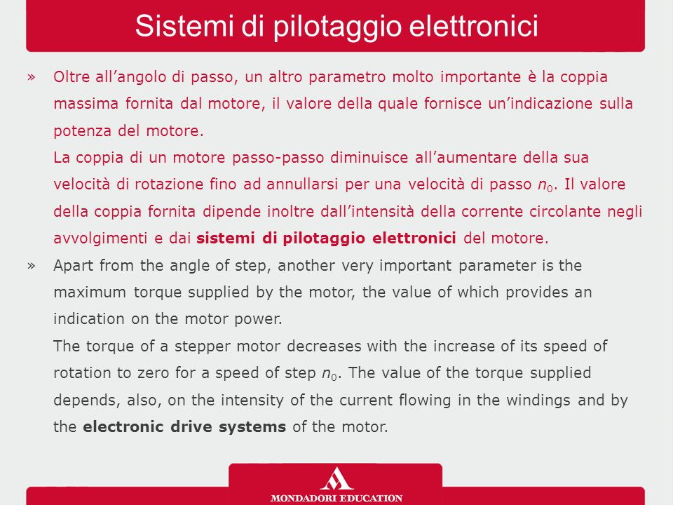 Sistemi di pilotaggio elettronici