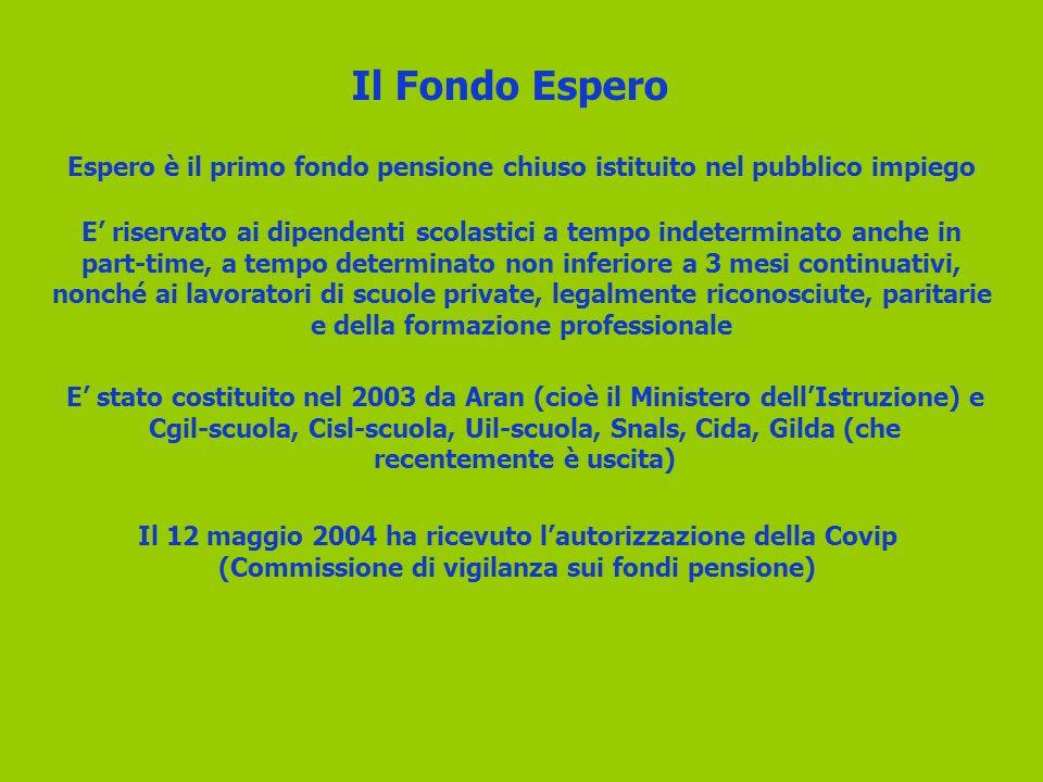 Espero è il primo fondo pensione chiuso istituito nel pubblico impiego