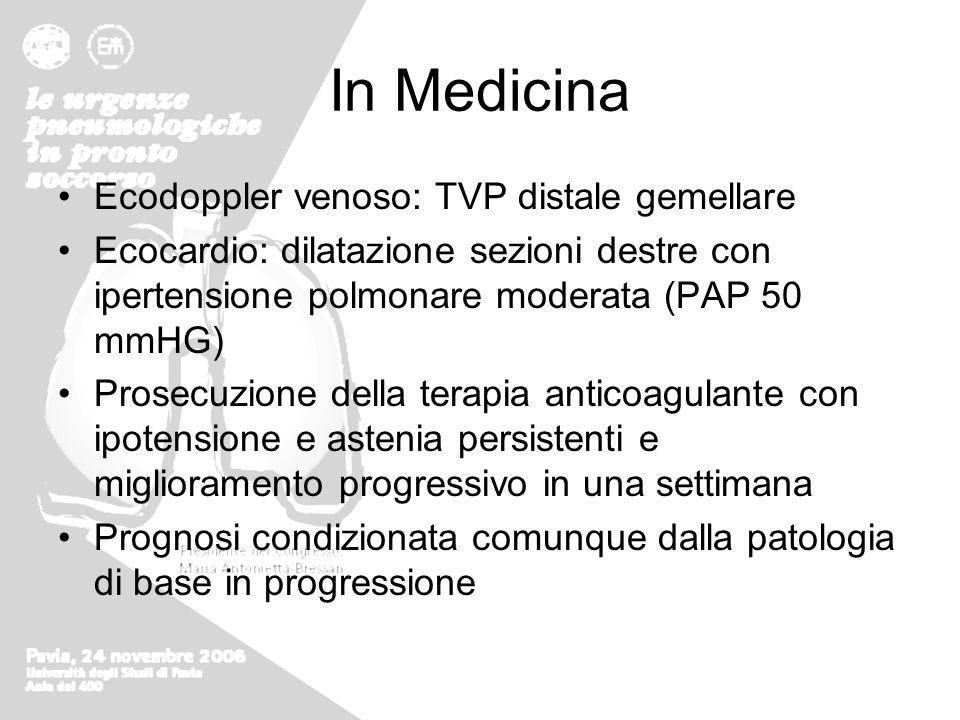 In Medicina Ecodoppler venoso: TVP distale gemellare