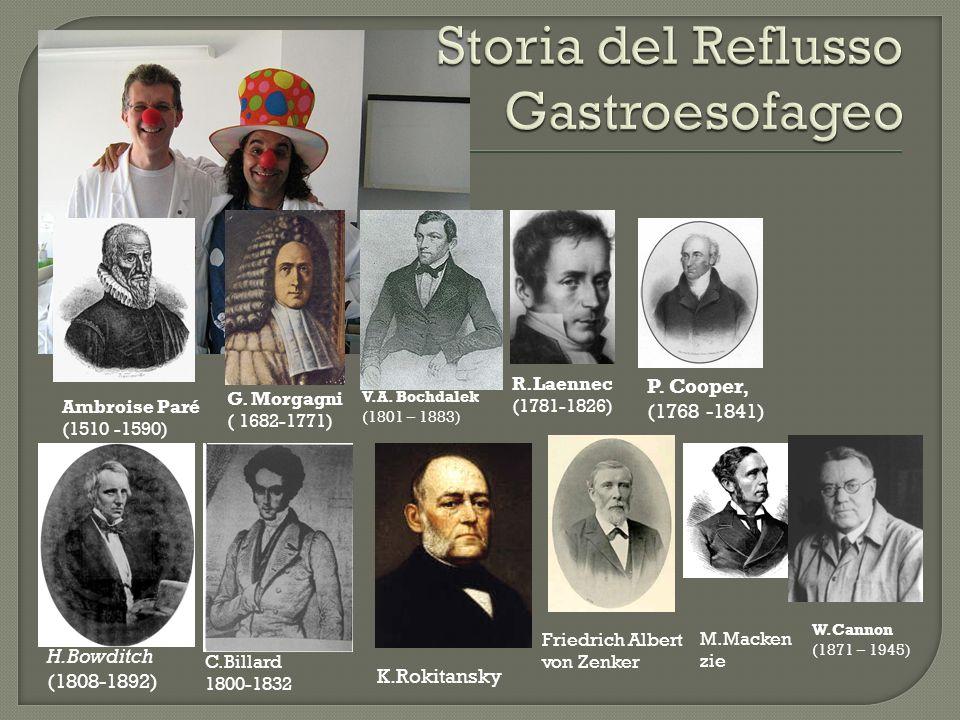 Storia del Reflusso Gastroesofageo