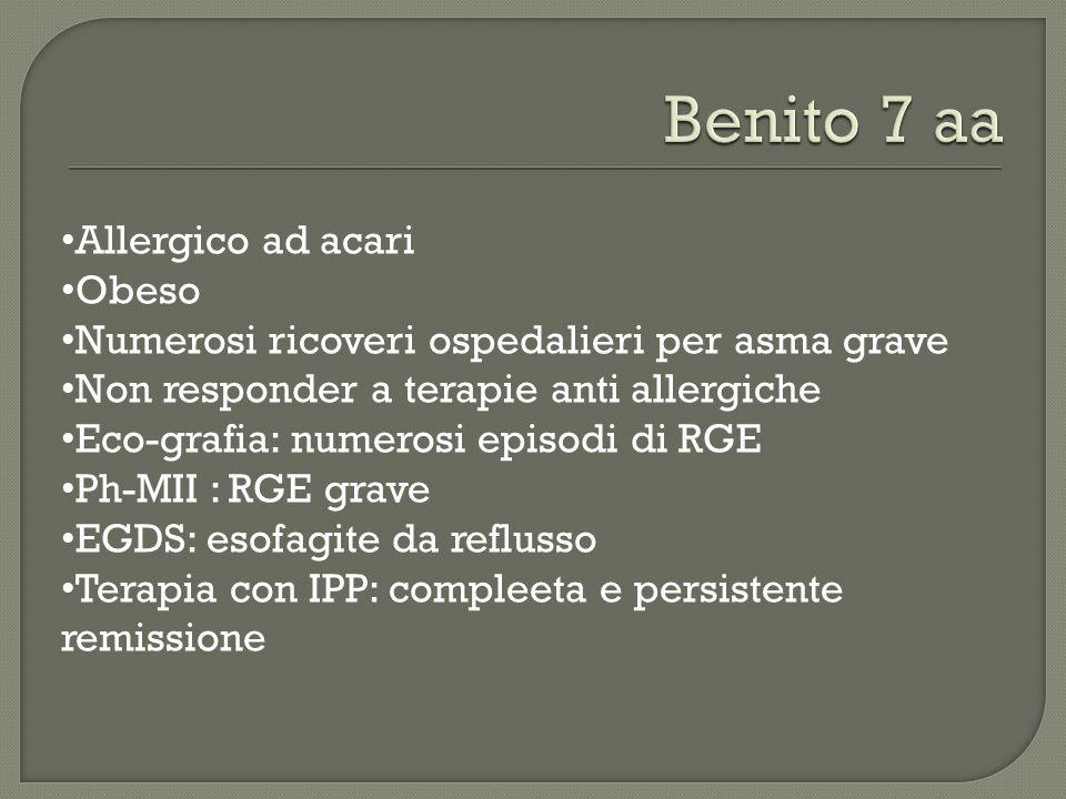 Benito 7 aa Allergico ad acari Obeso