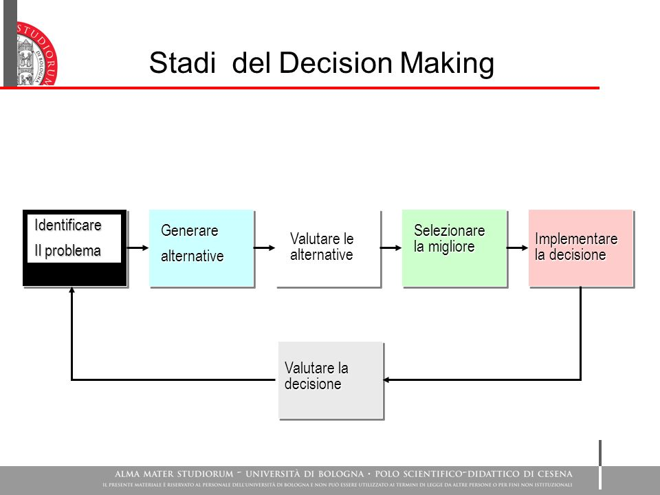 Stadi del Decision Making