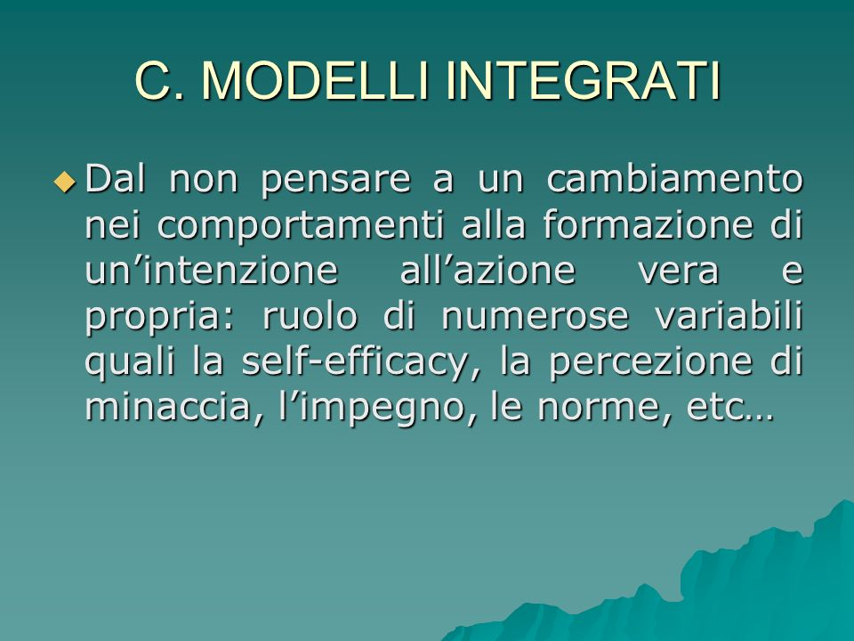 C. MODELLI INTEGRATI