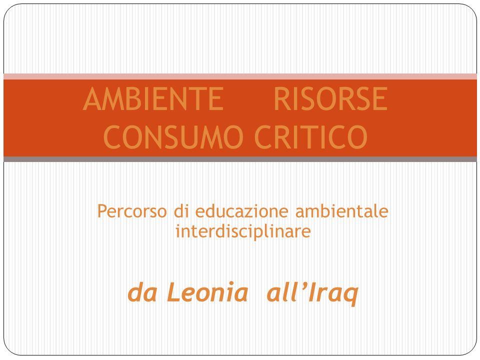 AMBIENTE RISORSE CONSUMO CRITICO