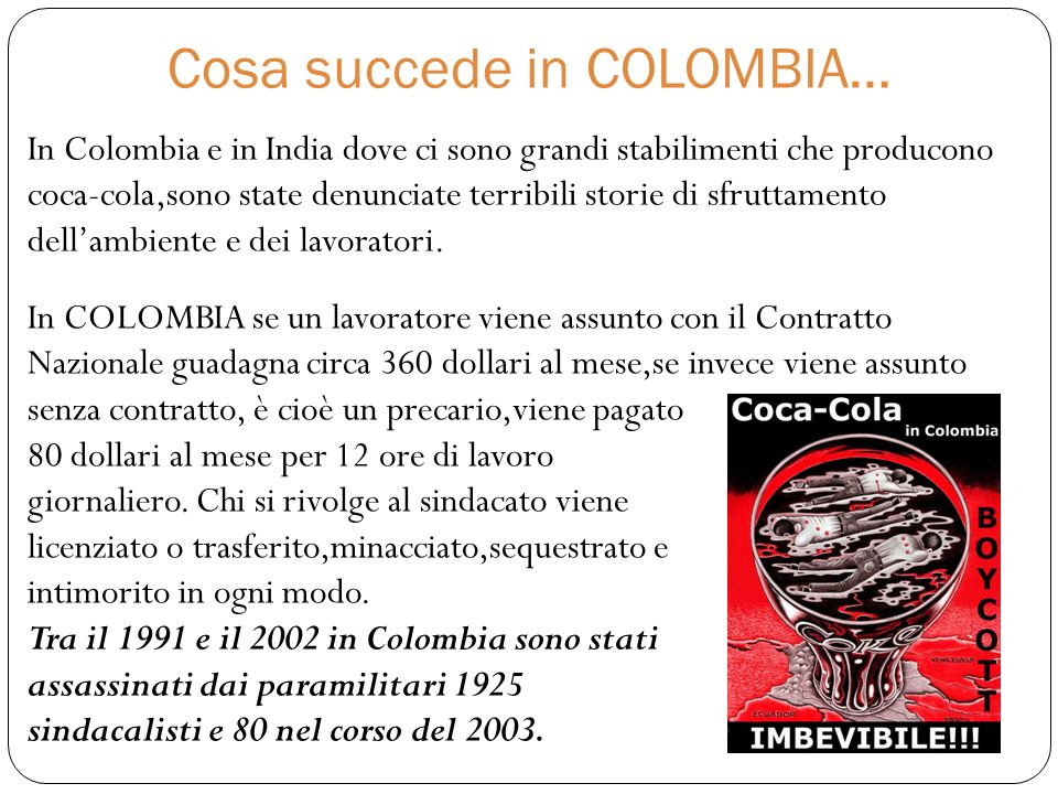Cosa succede in COLOMBIA…