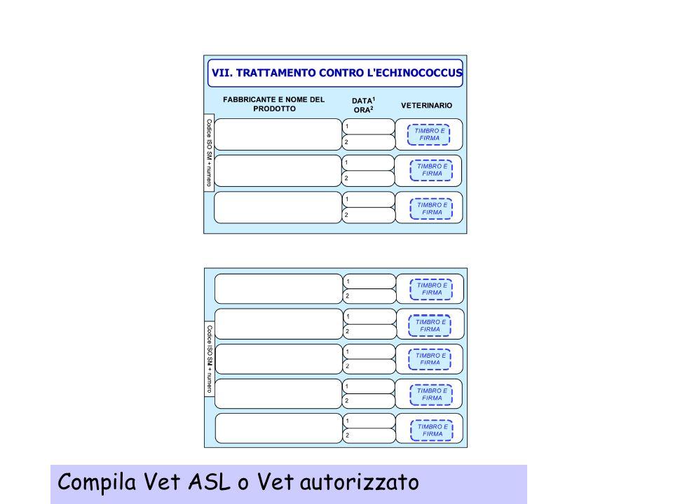 Compila Vet ASL o Vet autorizzato