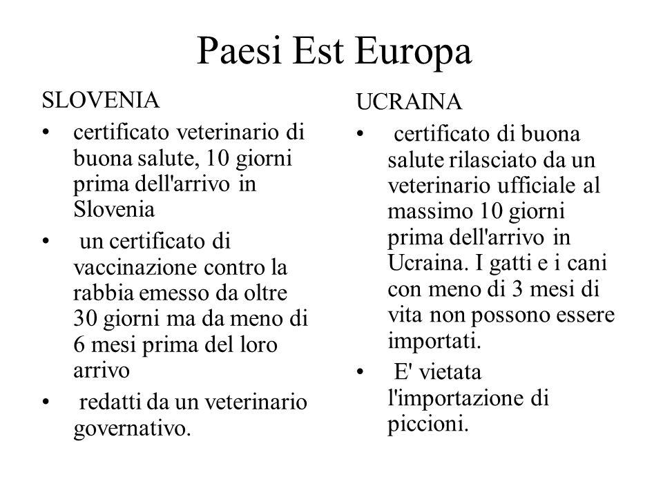 Paesi Est Europa SLOVENIA UCRAINA