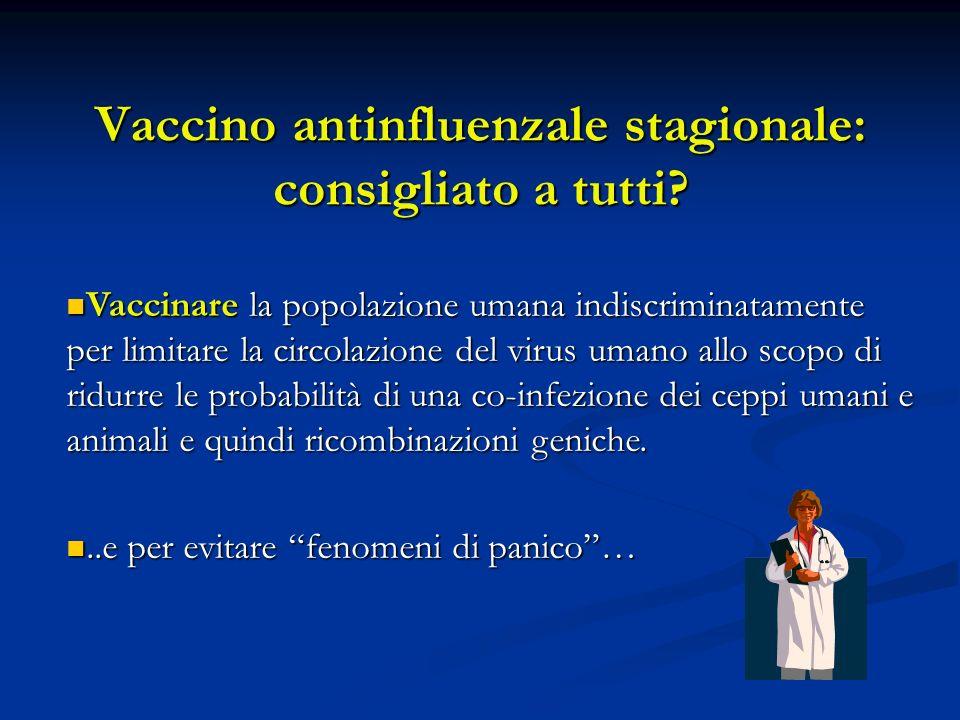Vaccino antinfluenzale stagionale: consigliato a tutti