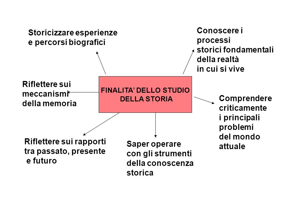 FINALITA' DELLO STUDIO