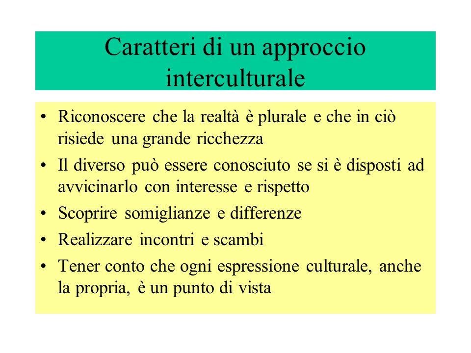 Caratteri di un approccio interculturale