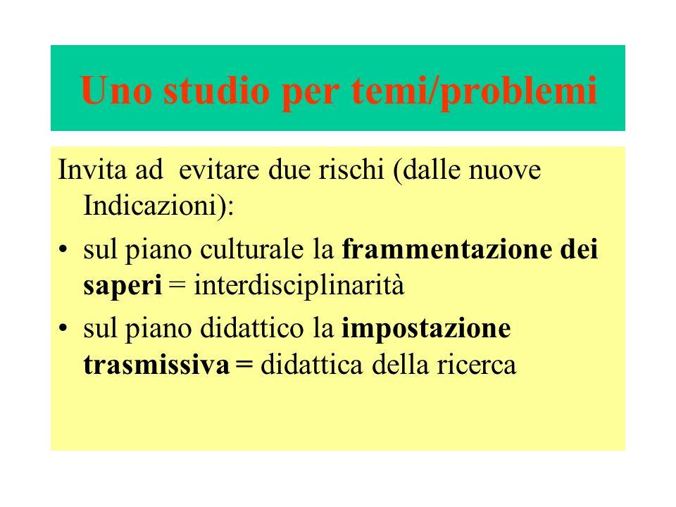 Uno studio per temi/problemi