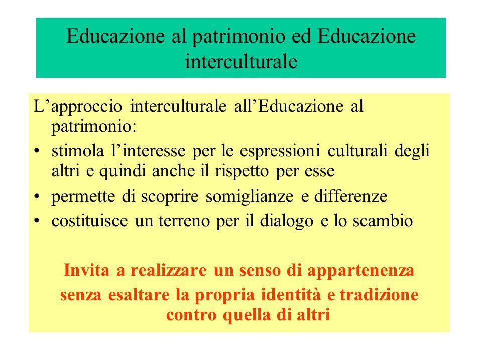 Educazione al patrimonio ed Educazione interculturale