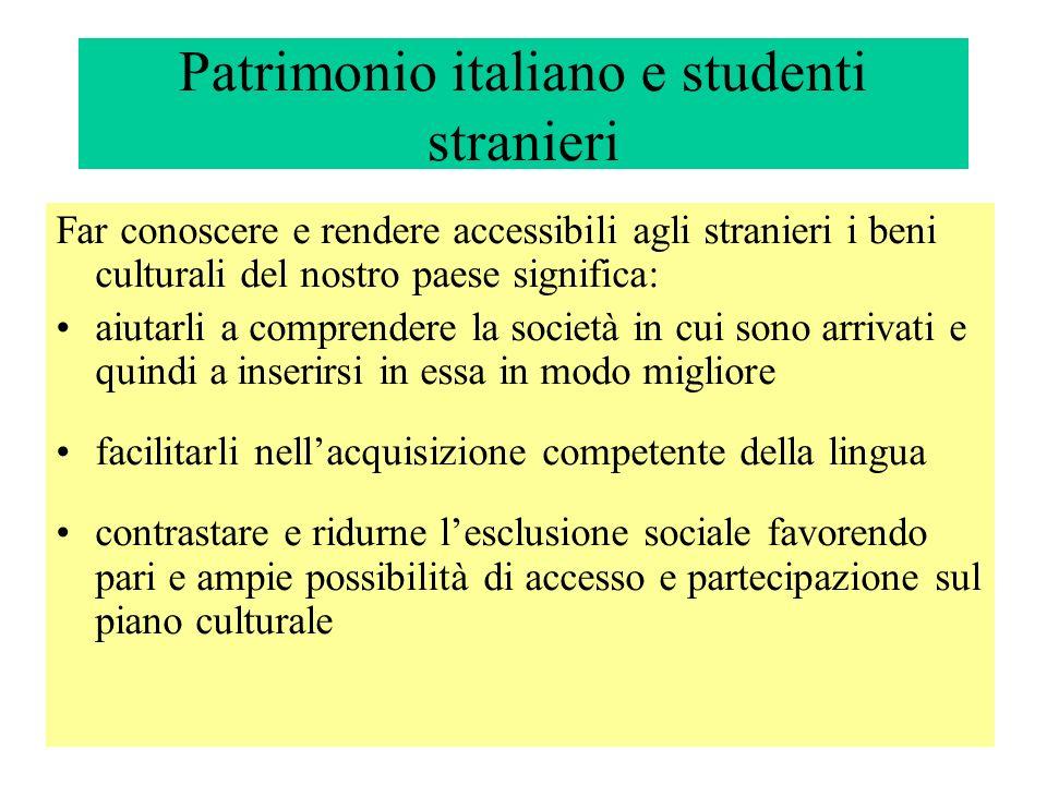 Patrimonio italiano e studenti stranieri