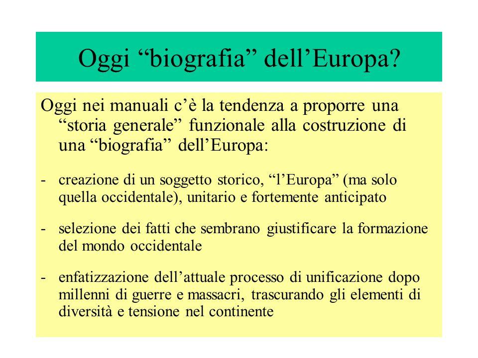 Oggi biografia dell'Europa