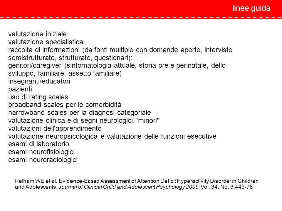 linee guida valutazione iniziale valutazione specialistica