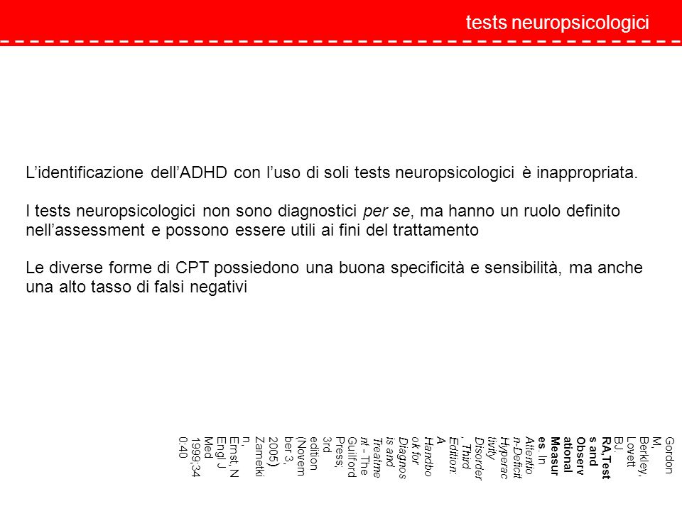 tests neuropsicologici