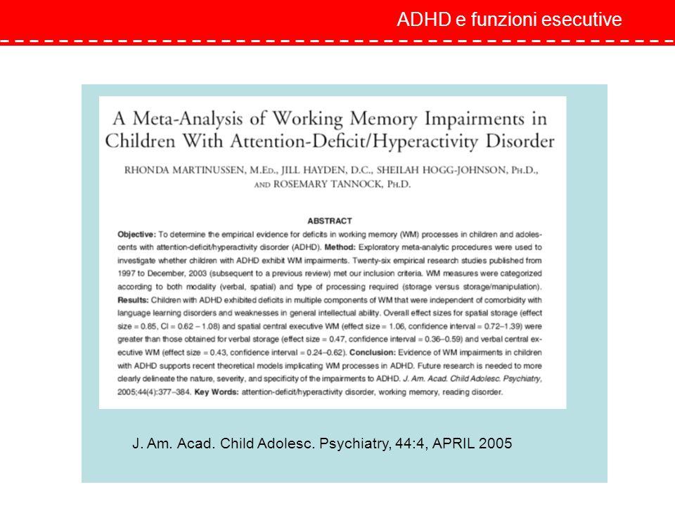 ADHD e funzioni esecutive