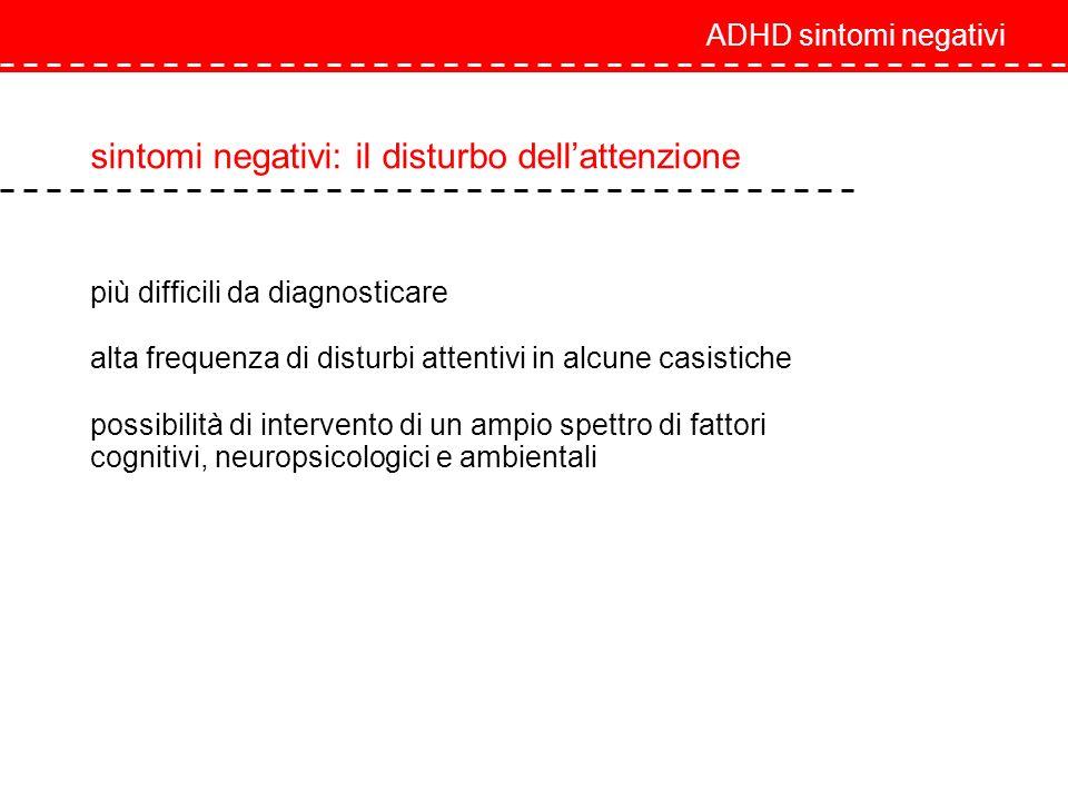 sintomi negativi: il disturbo dell'attenzione
