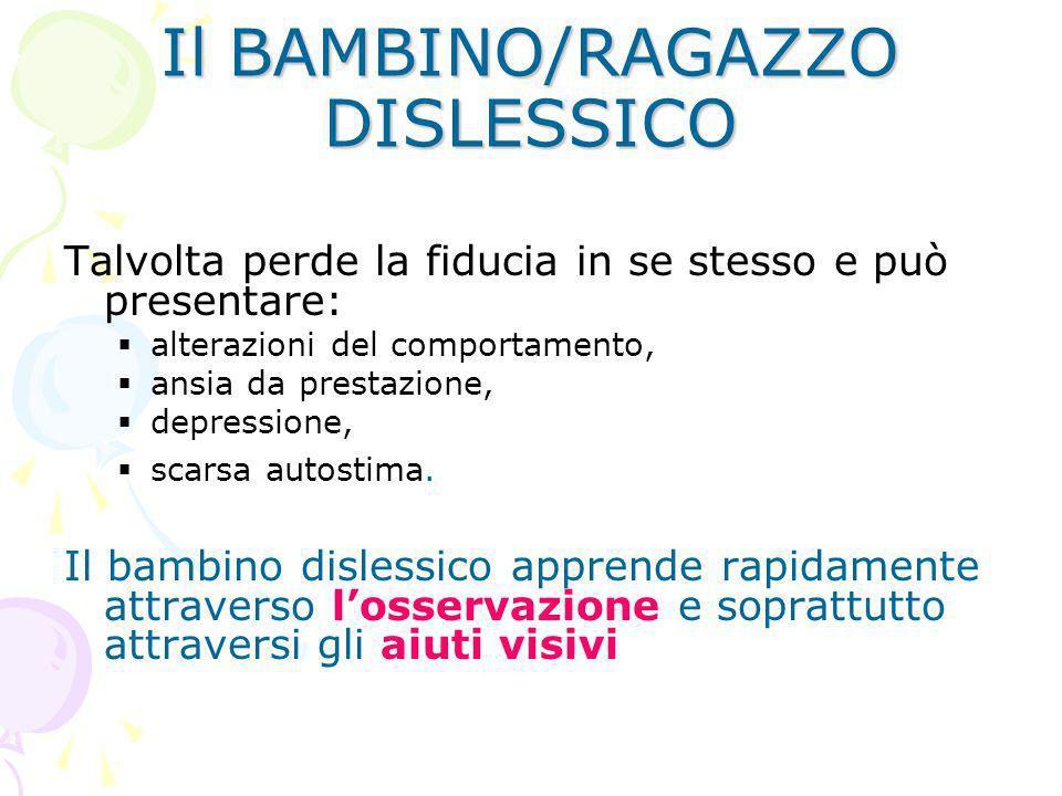 Il BAMBINO/RAGAZZO DISLESSICO