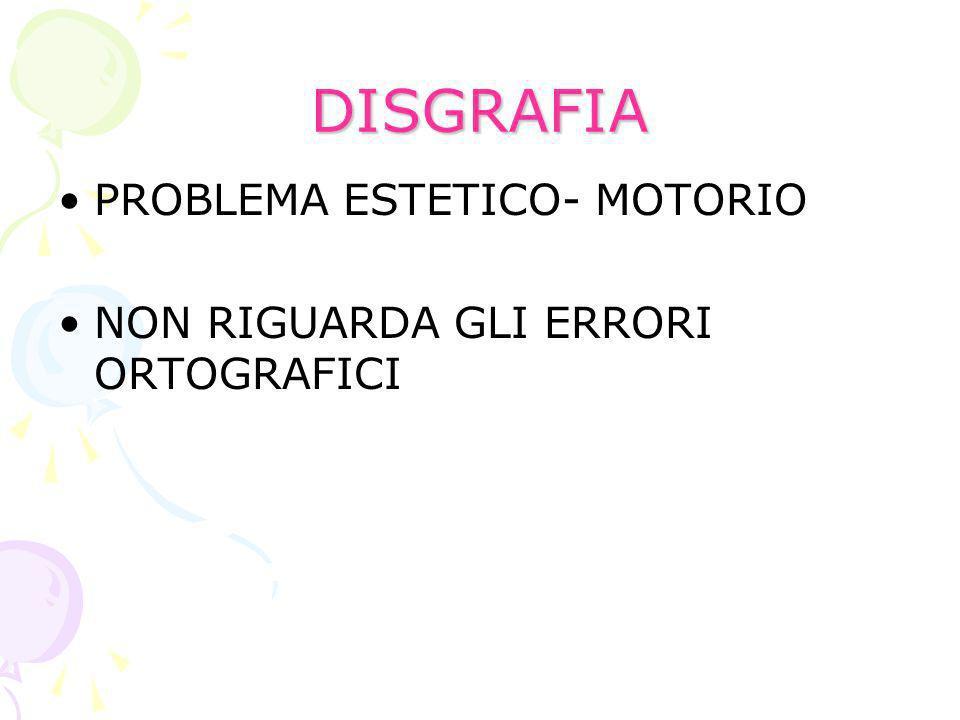 DISGRAFIA PROBLEMA ESTETICO- MOTORIO