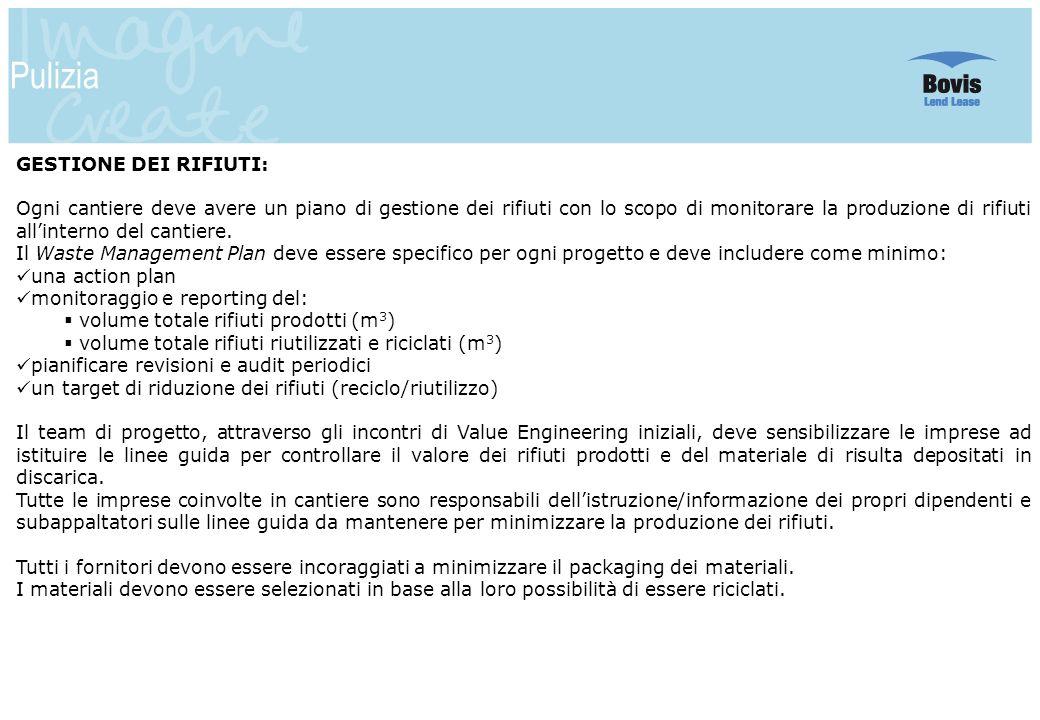 Pulizia GESTIONE DEI RIFIUTI: