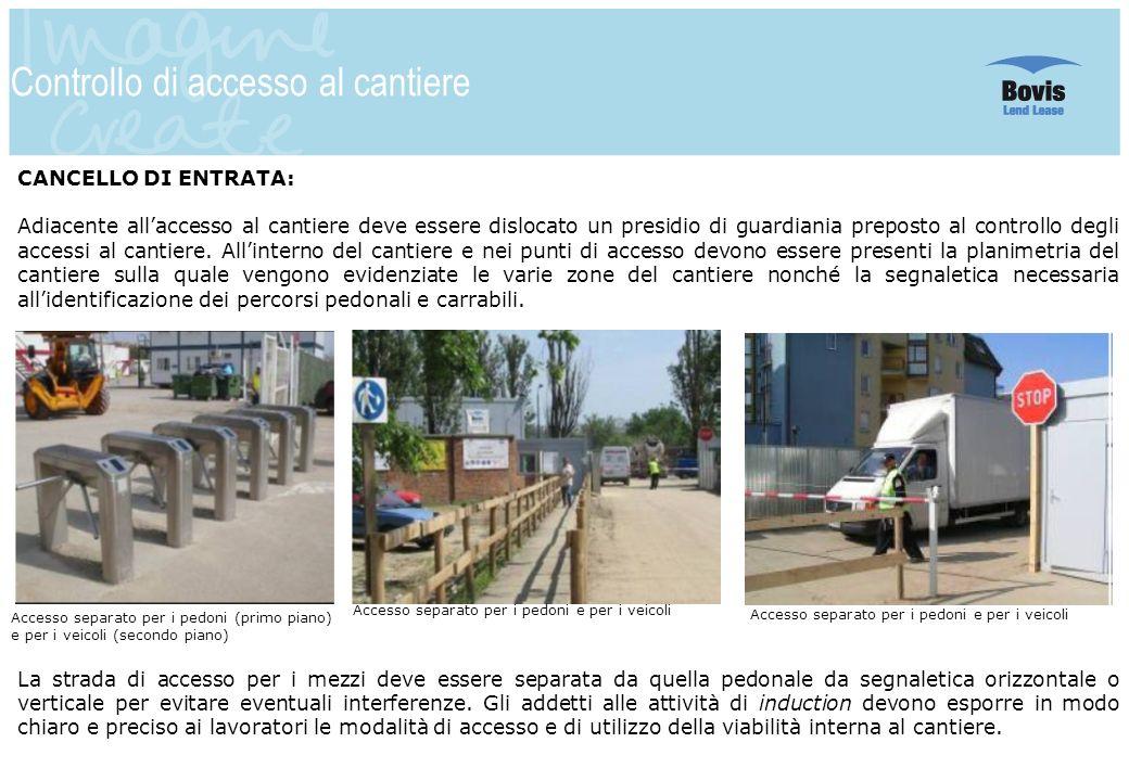Controllo di accesso al cantiere