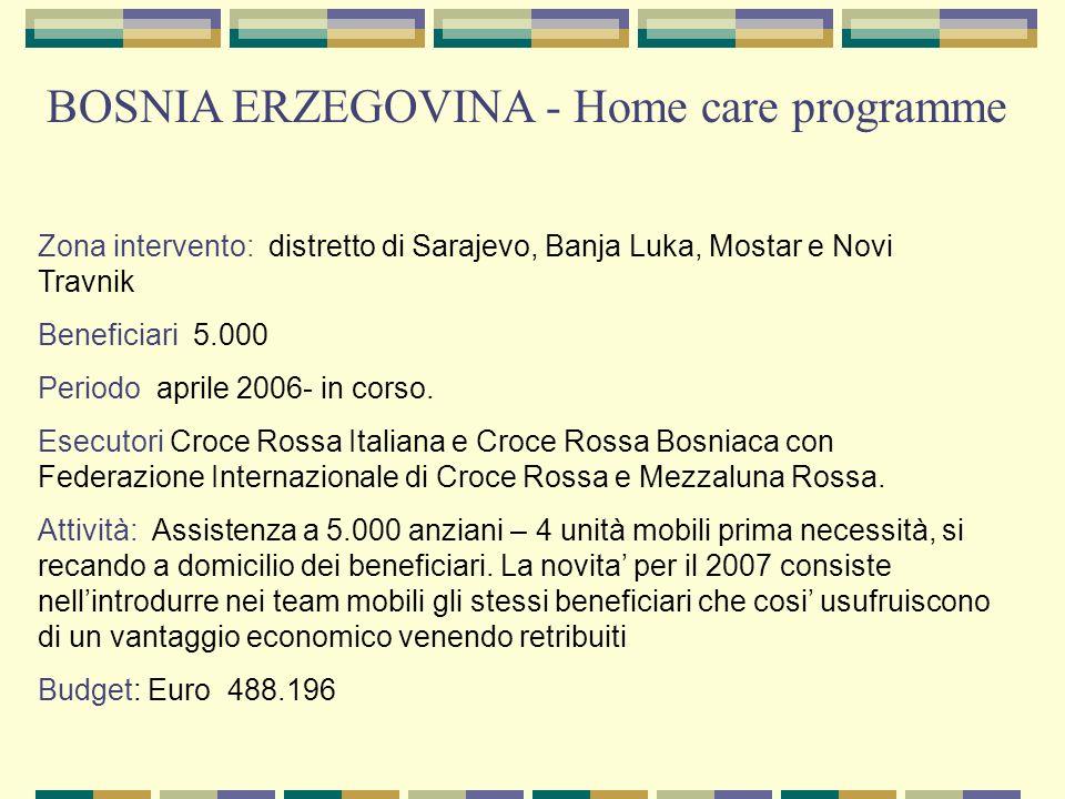 BOSNIA ERZEGOVINA - Home care programme