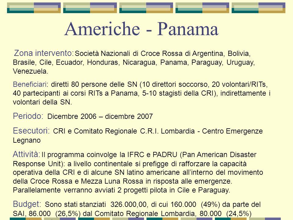 Americhe - Panama Periodo: Dicembre 2006 – dicembre 2007