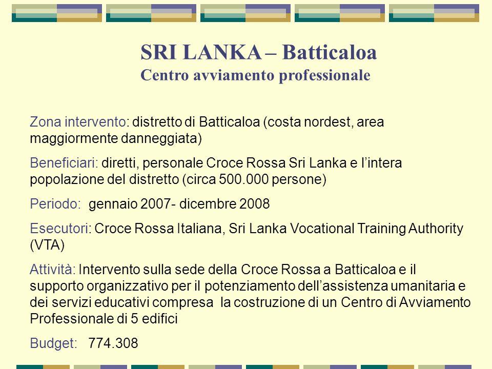 SRI LANKA – Batticaloa Centro avviamento professionale