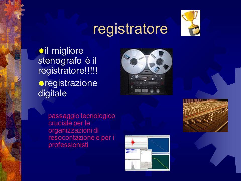 registratore il migliore stenografo è il registratore!!!!!