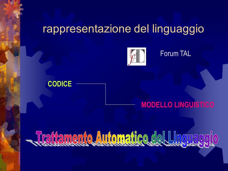 rappresentazione del linguaggio
