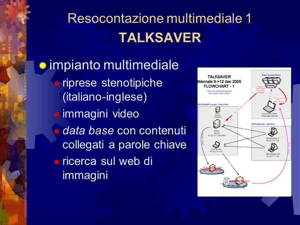 Resocontazione multimediale 1 TALKSAVER