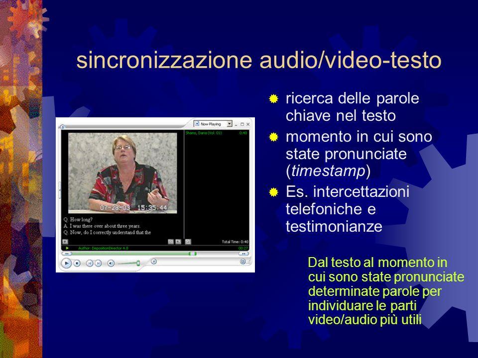 sincronizzazione audio/video-testo