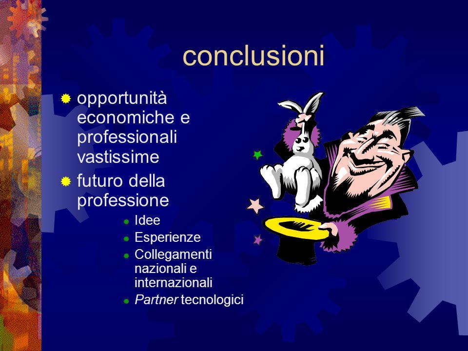 conclusioni opportunità economiche e professionali vastissime