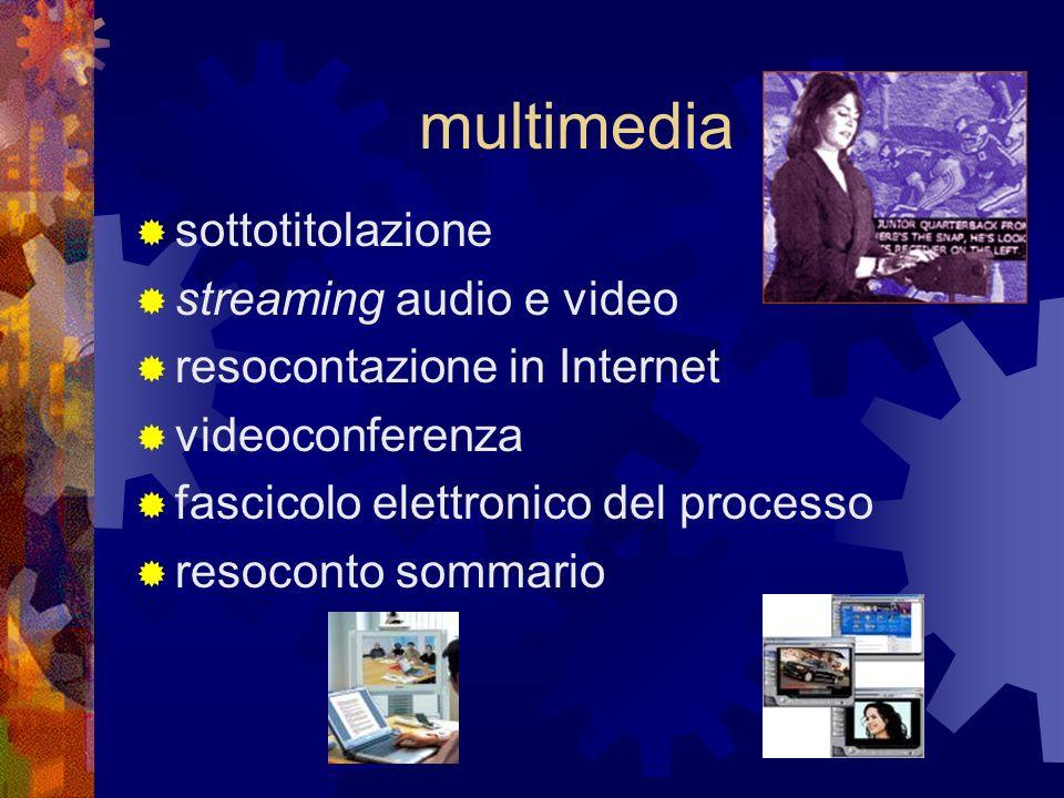 multimedia sottotitolazione streaming audio e video