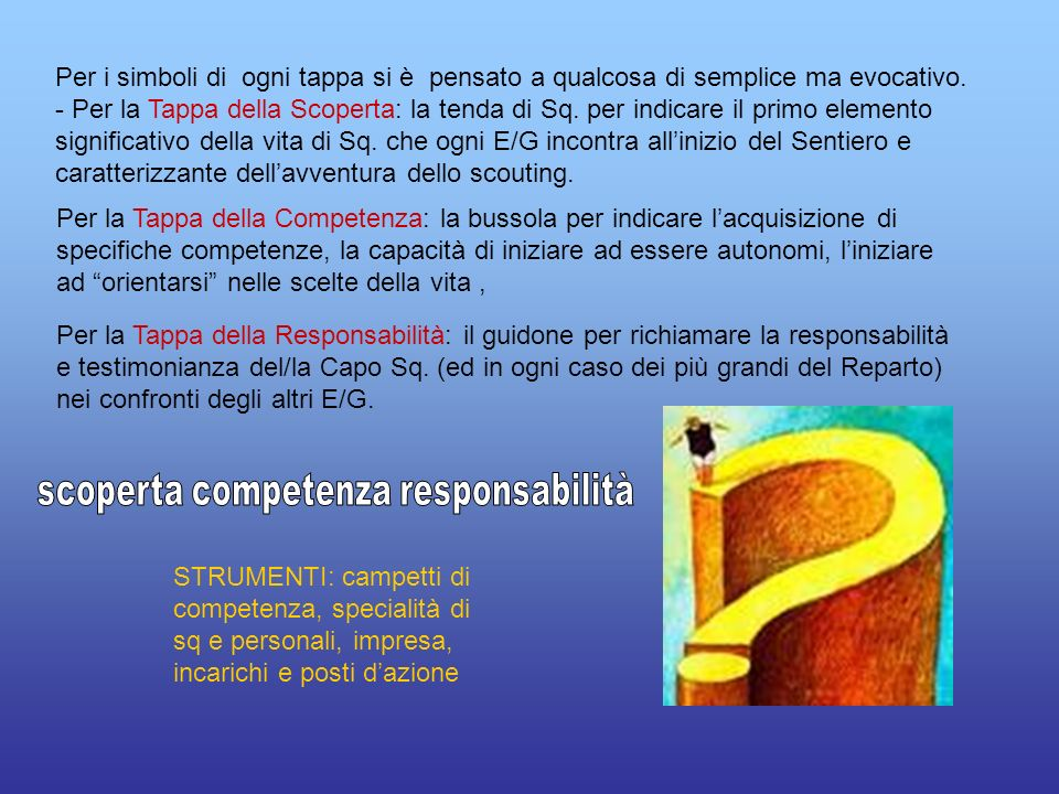 scoperta competenza responsabilità