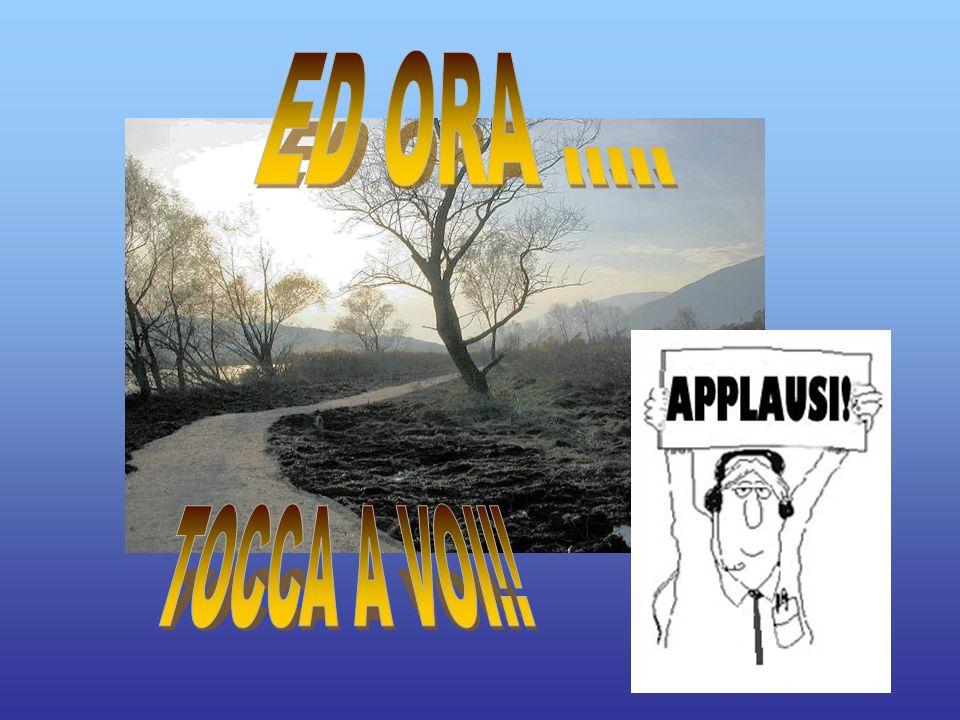 ED ORA ..... TOCCA A VOI!!