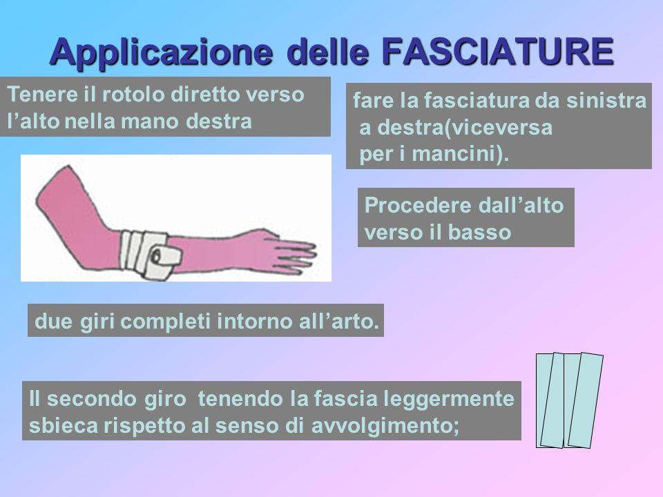 Applicazione delle FASCIATURE