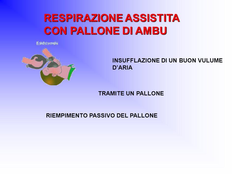RESPIRAZIONE ASSISTITA CON PALLONE DI AMBU