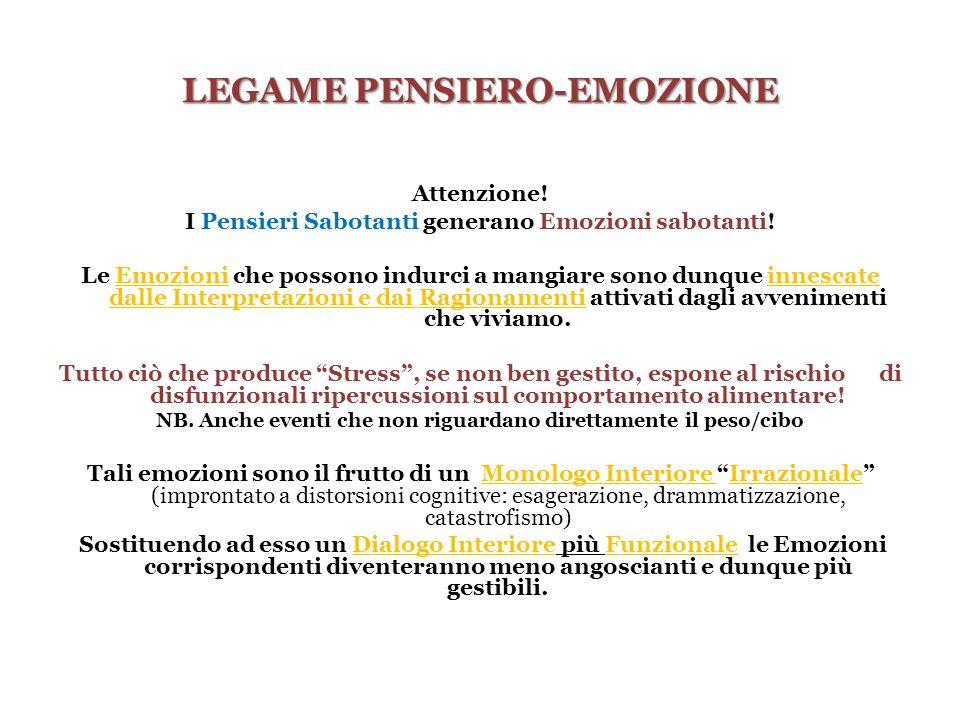 LEGAME PENSIERO-EMOZIONE