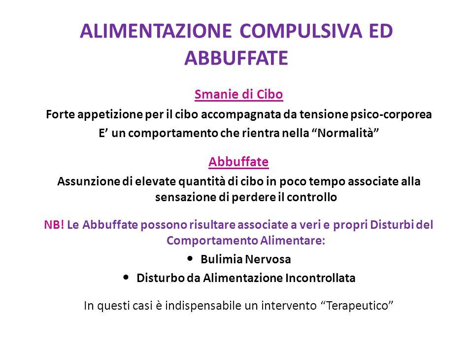 ALIMENTAZIONE COMPULSIVA ED ABBUFFATE