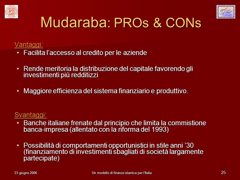 Un modello di finanza islamica per l'Italia