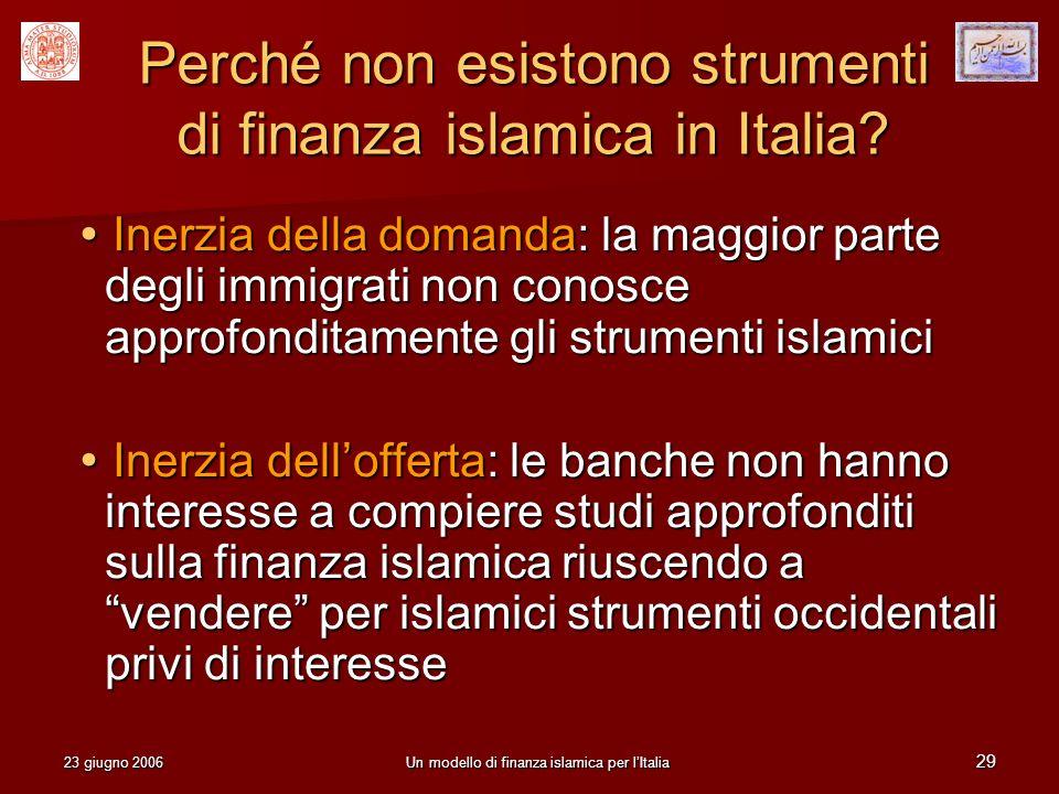 Perché non esistono strumenti di finanza islamica in Italia