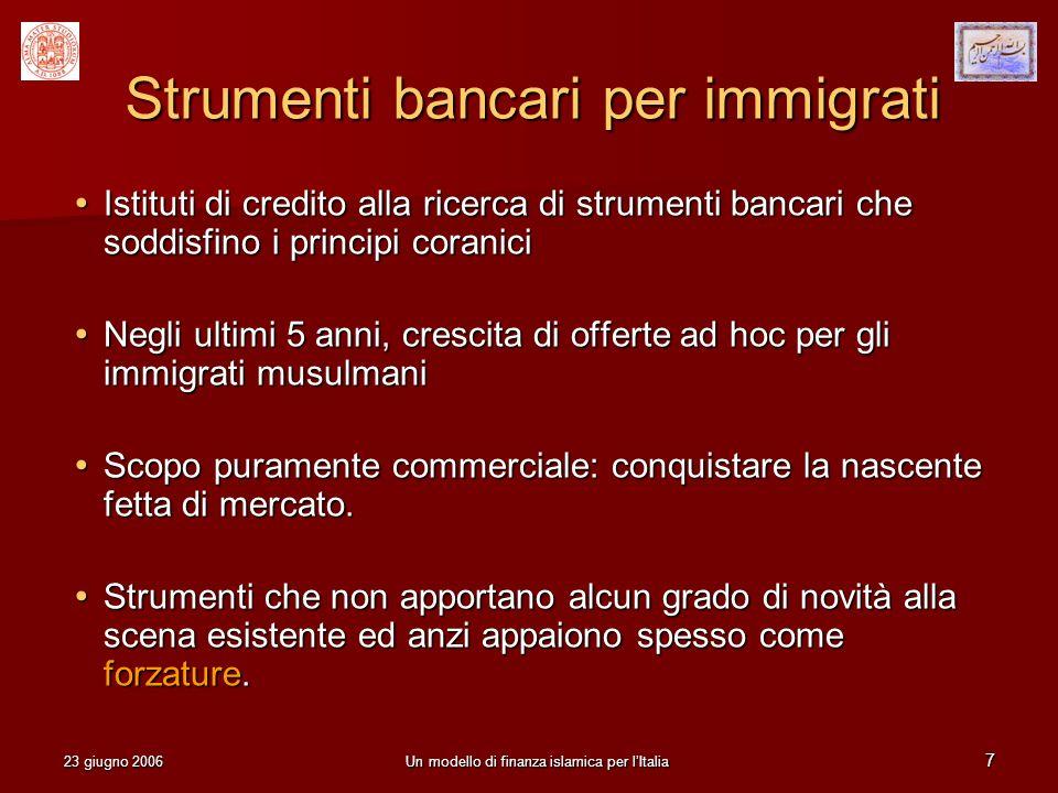 Strumenti bancari per immigrati