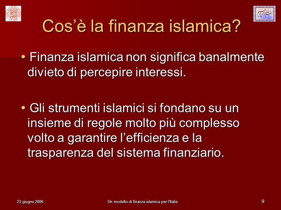 Cos'è la finanza islamica