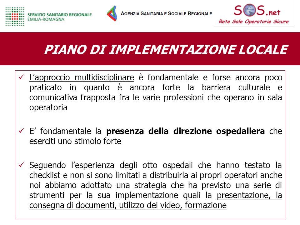 PIANO DI IMPLEMENTAZIONE LOCALE