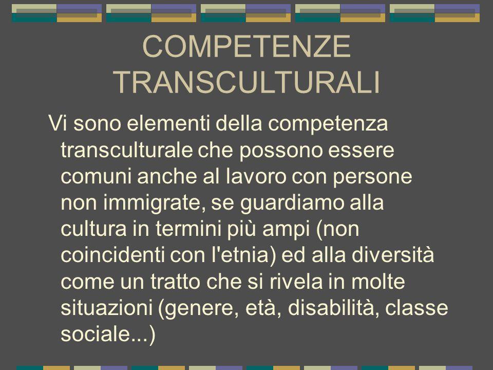 COMPETENZE TRANSCULTURALI